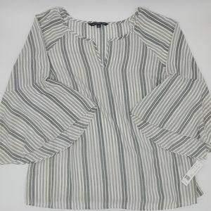 🆕 Zac & Rachel striped bell sleeve top size 1X
